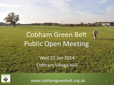Cobham Ggreen Belt Open meeting 22 jan 2014