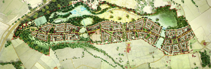 Wisley Airfield Developers map